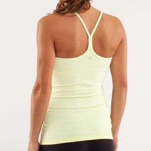 LULULEMON Power Y Pale Yellow Tank 8